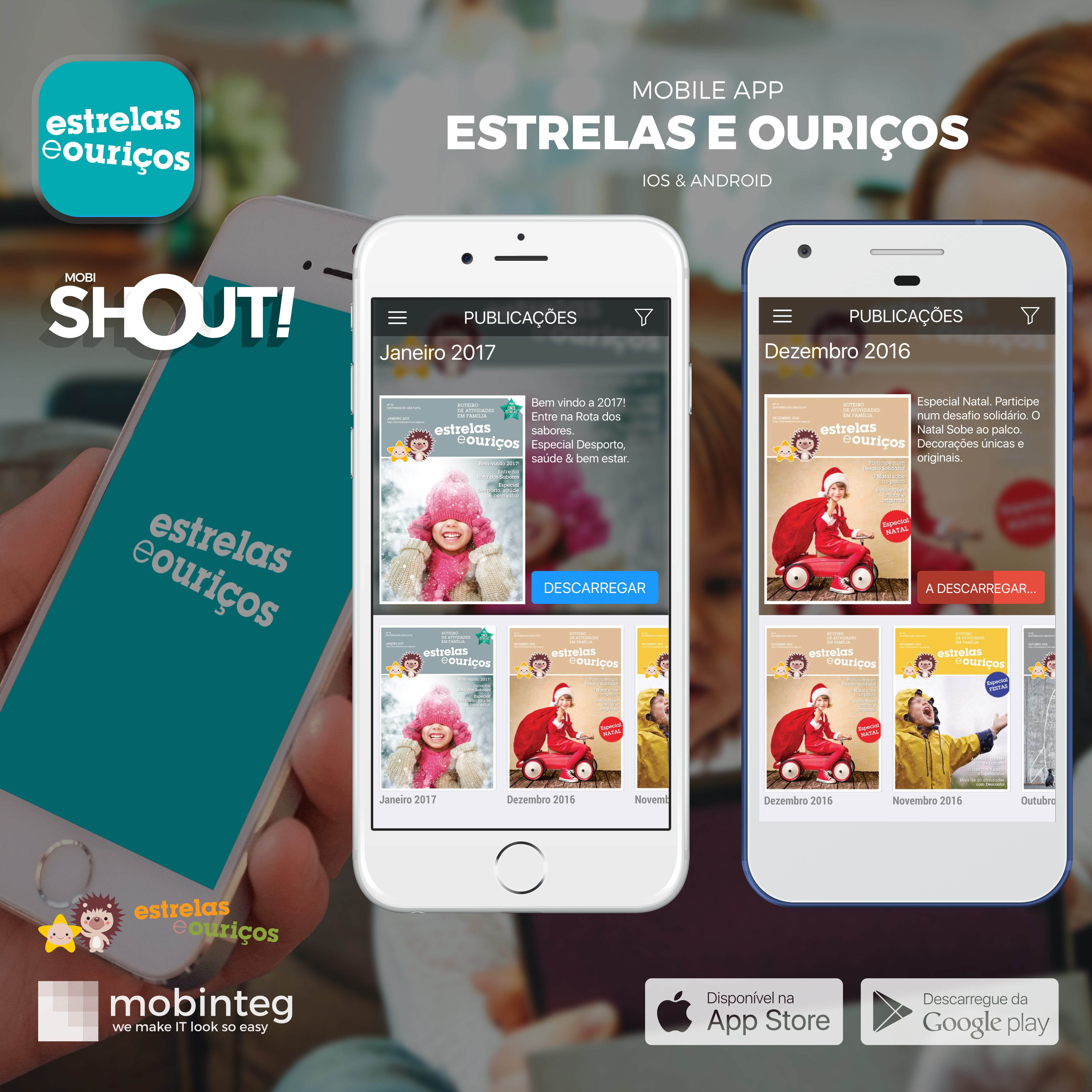 "You can read the guide ""Estrelas e Ouriços""… on your smartphone"