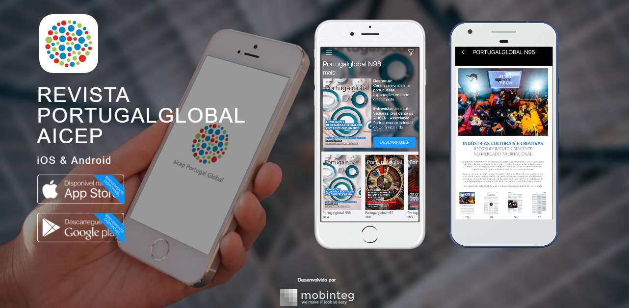AICEP's Portugalglobal magazine available in mobinteg app
