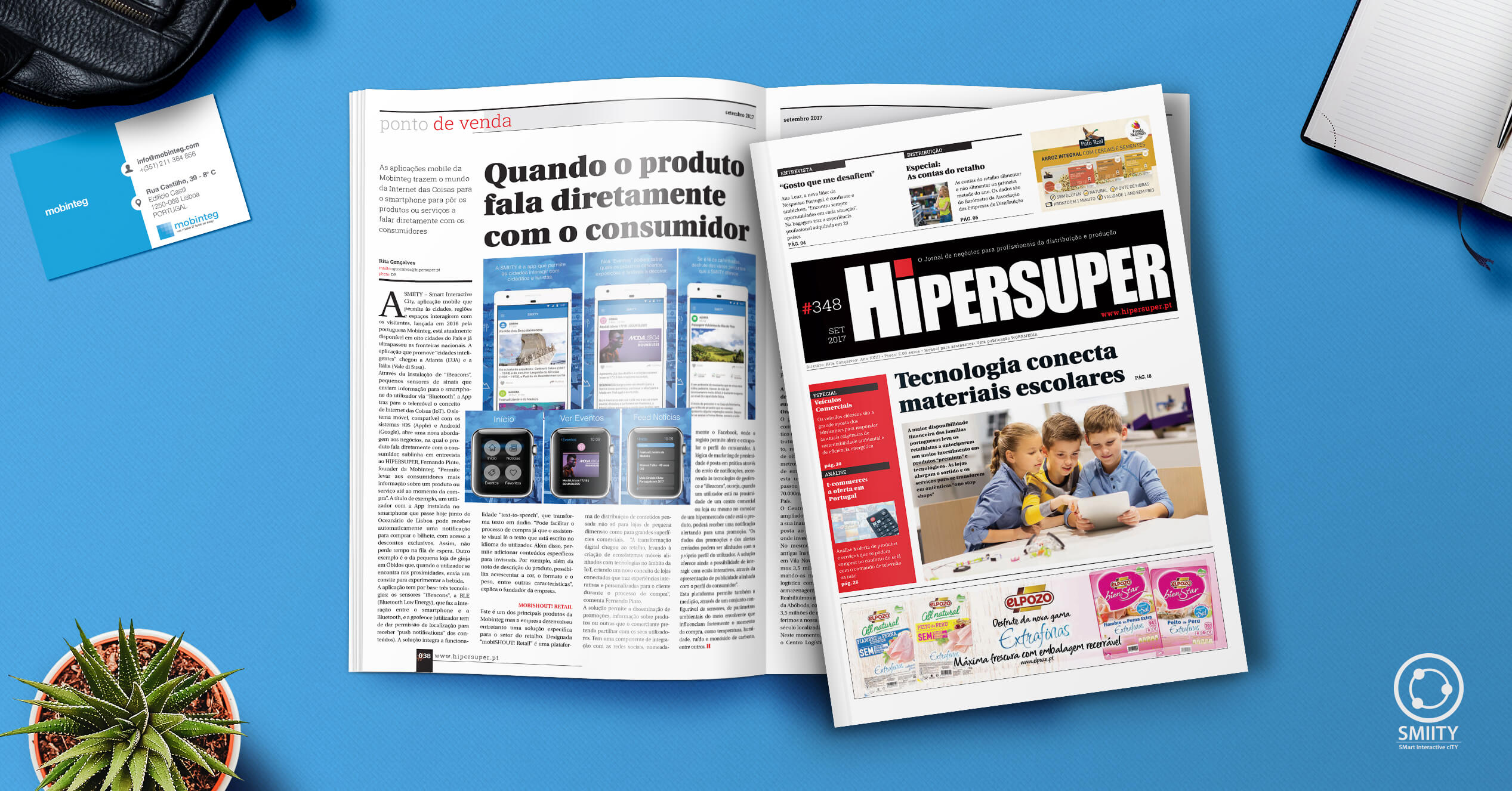 """When the product speaks directly to the consumer"": mobinteg in Jornal Hipersuper"