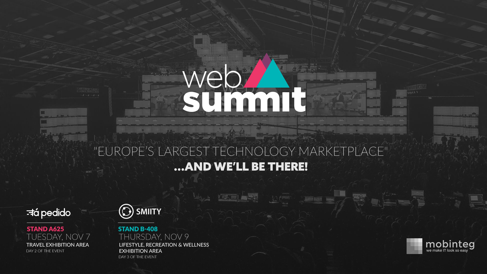 mobinteg will have two stands at Web Summit 2017