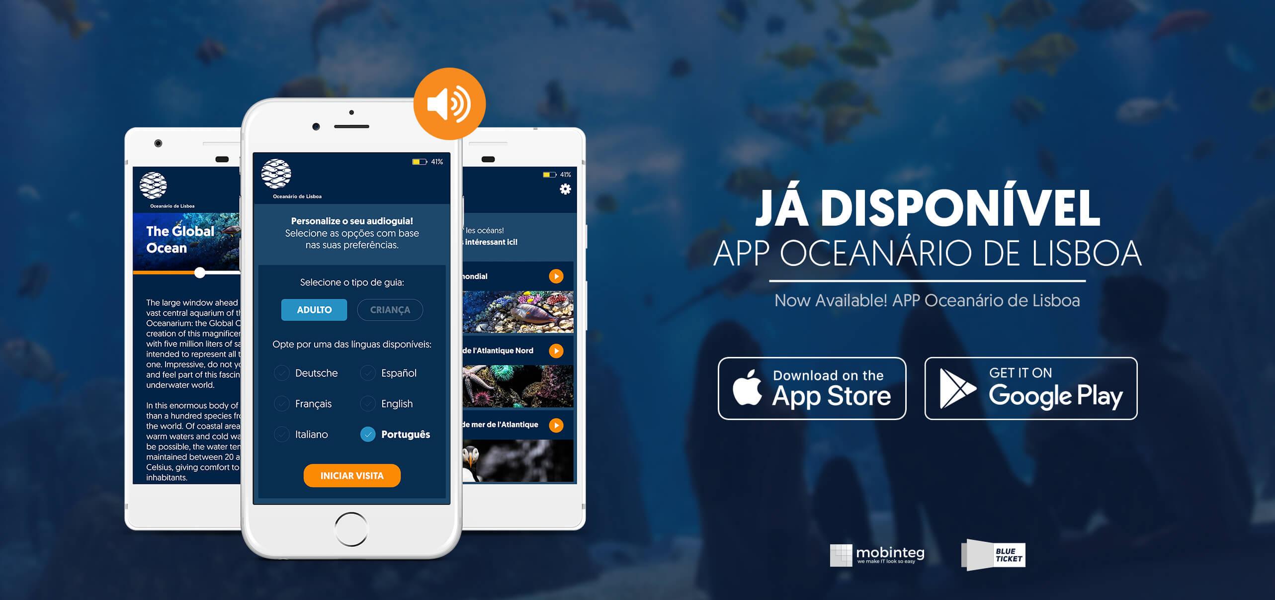É oficial! Apresentamos a nova App do Oceanário de Lisboa